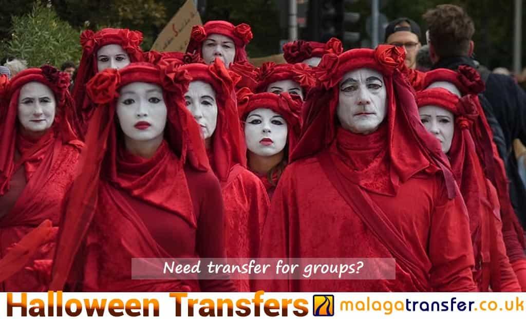 Halloween transfers in Malaga