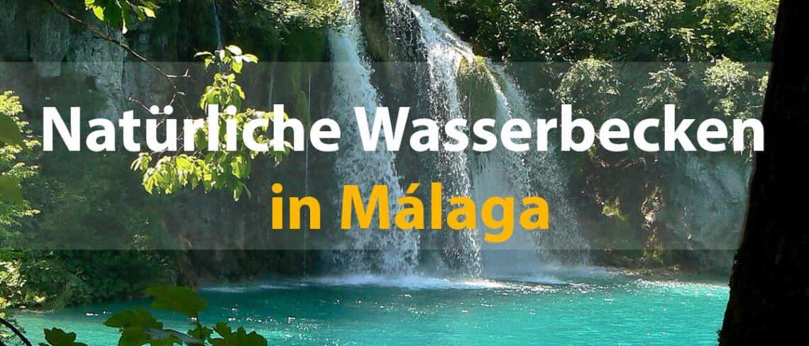 Naturlichen wasserbecken in Málaga