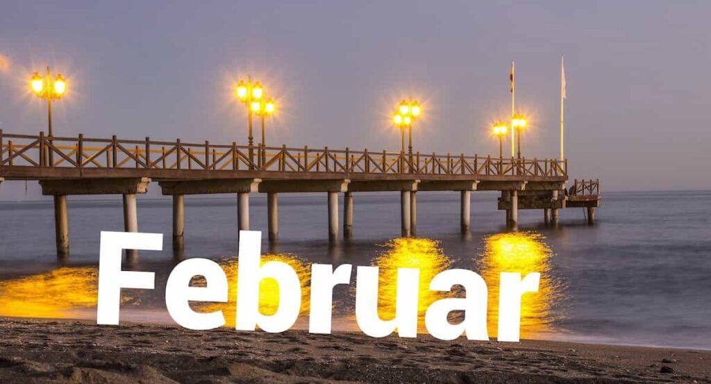 Februar in Málaga