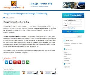 Malaga Transfer startet einen Blogt