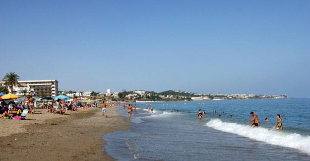 Cala beach in Malaga in September