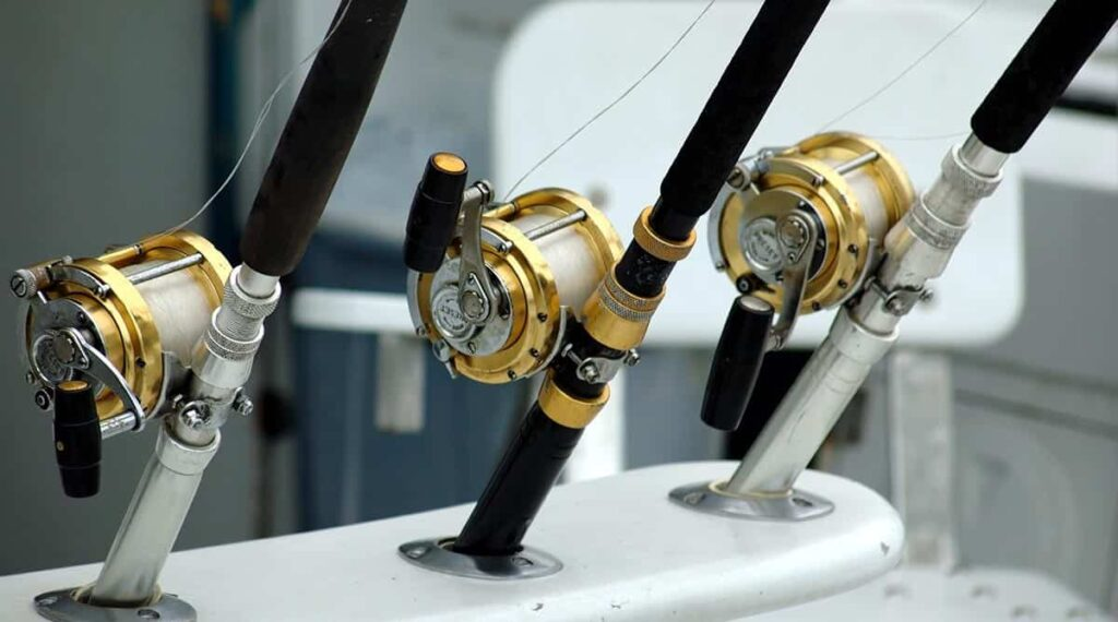Deep-sea fishing and fishing rods