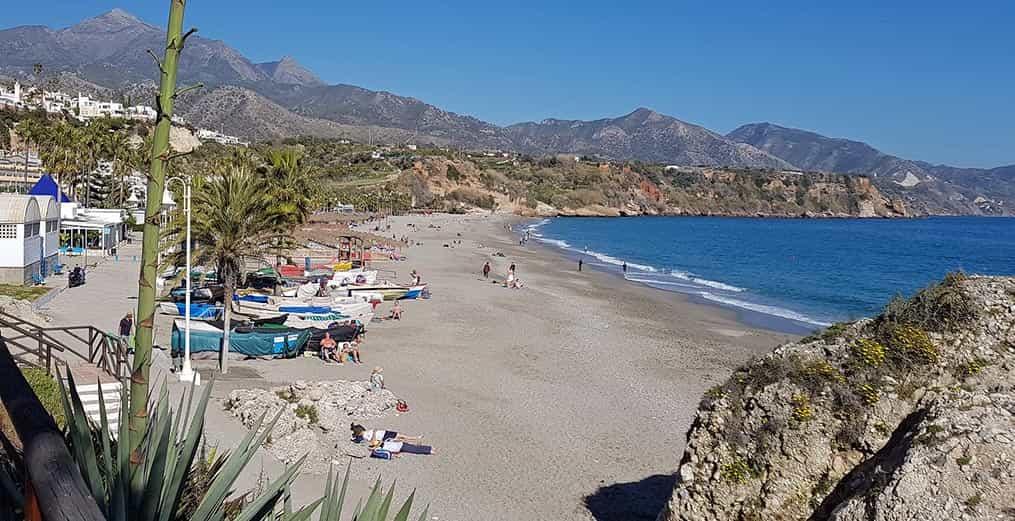 Playa de Málaga en mayo