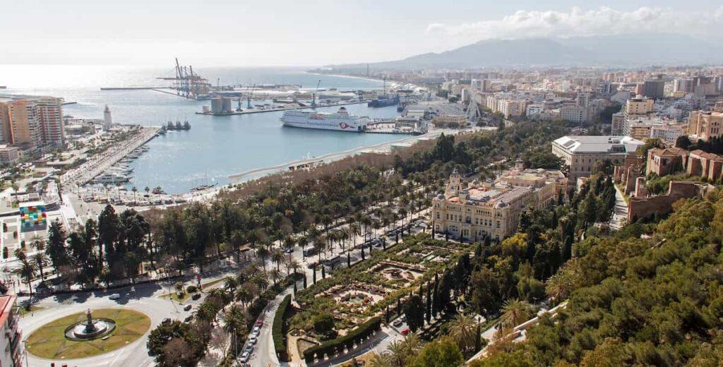 Málaga a vista de pájaro