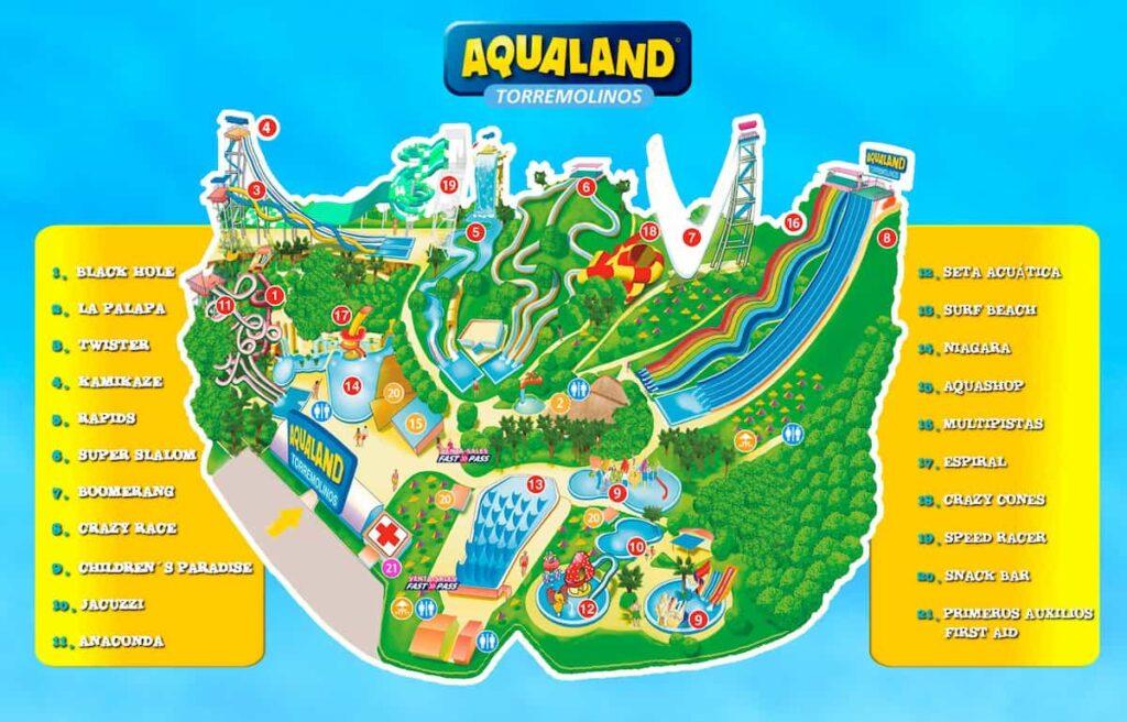 Mapa de Aqualand 2021