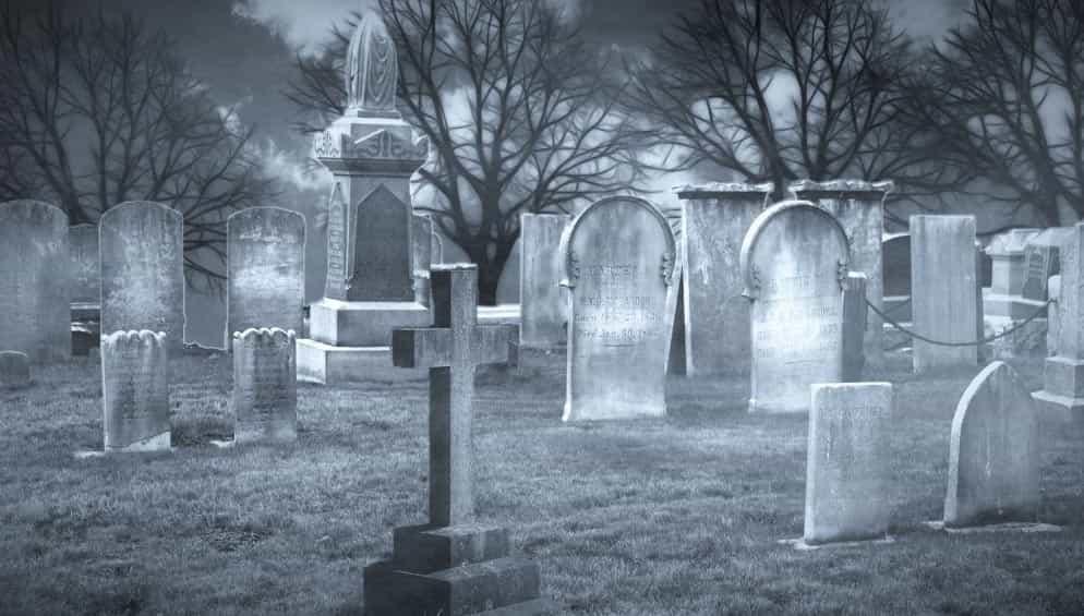 Halloween inside a Malaga cemetery
