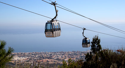 The Cable car in Benalmadena