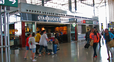 Starbucks at Malaga airport