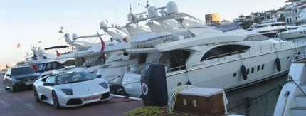 Luxury sport cars and yachts