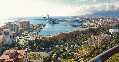 Photographie of Malaga from Gibralfaro