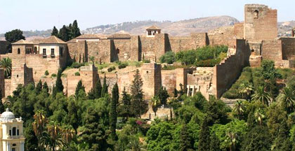 The Fortress Alcazaba in Malaga