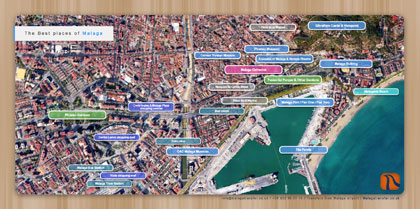 Map of The Best Places of Malaga