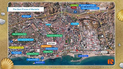 Map of the best places of Marbella