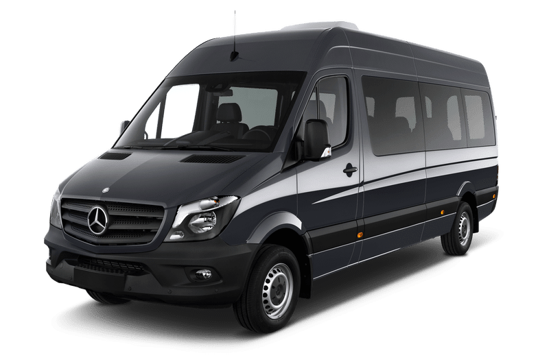 Mercedes Sprinter: 22 passengers / 22 luggages / Golf equipment on request
