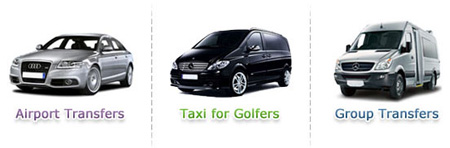 Image of different types of taxis