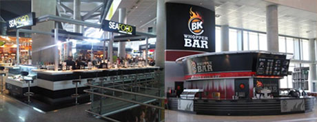 Whopper Bar y Sea Food en el aeropuerto de Málaga